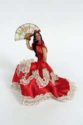 Picture of Spain Doll Flamenco Dancer Sitting