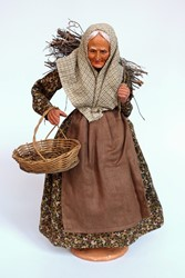 Picture of France Santon Doll Carrying Firewood