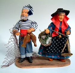 Picture of France Santons Dolls with Fish